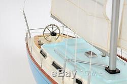 Handcrafted Bristol 35 Voilier Modèle Yacht En Bois 29 Sloop Construit Bateau Nouveau
