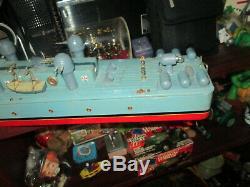 Handmade 31 Vintage ' ' Ito Tmy Japon Marine Bataille Bateau Bateau Modèle De La Batterie En Bois Tin