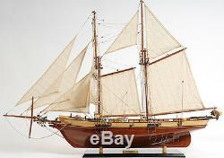 Harvey Baltimore Clipper Tall Ship 35, Modèle En Bois Verni Pour Bateau, Assemblé