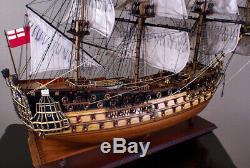 Hms Prince 42 Maquette De Navire En Bois Marine Britannique Voilier Grand Voilier En Bois