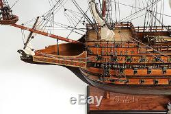 Hms Sovereign Of The Seas 1637 Tall Ship 37 Construit Modèle De Bateau En Bois Assemblé