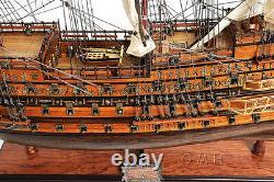 Hms Sovereign Of The Seas Navire De La Marine Britannique Modèle De Bateau En Bois Voilier