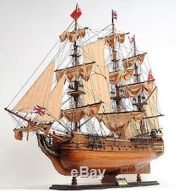 Hms Surprise Tall Ship 37 Bois Modèle Bateau De Vente Avec Vitrine Assemblé
