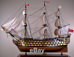 Hms Victory 43, Maquette De Bateau En Bois Voilier Historique Du Royaume-uni