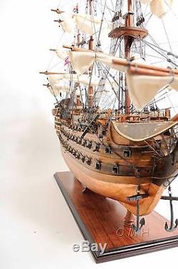 Hms Victory Admiral Nelson Tall Ship, Fond En Cuivre 38, Maquette De Bateau En Bois