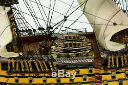 Hms Victory Flagship Wood Tall Ship Modèle 34 Bateau Construit Nouveau