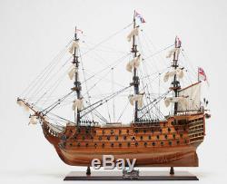 Hms Victory Flagship Wood Tall Ship Modèle 37 Bateau Construit Nouveau