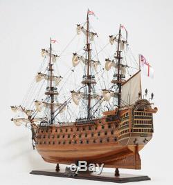 Hms Victory Tall Ship Échelle En Bois Modèle Voilier 30 Assemblé Entièrement Bateau Nouveau