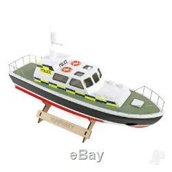 Humphrey Police Boat Launch (410mm) Bois Rc Modèle Kit