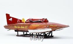 Hydroplane Slo-mo-shun IV Bateau De Course En Bois Fait À La Main U-27 IV Modèle 36 Rc Ready