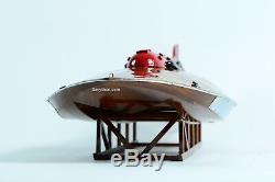 Hydroplane Slo-mo-shun Iv, Bateau De Course En Bois U-27, Modèle 30, Échelle 112