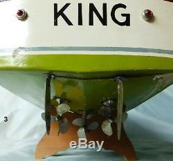 Ito King Japan Modèle 3 Bateau À Bois En Bois Avec Équipements Oem Lumière Batterie K & O