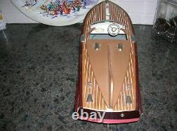 Ito Toy Boat Cobra Modèle Batterie Batterie Bateau En Bois Bateau De Vitesse Rare