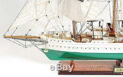 J. S. Elcano Marine Royale Espagnole Tall Ship 37 Construit En Bois Modèle Bateau Assemblé