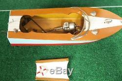 Japonais Bat Op Échelle En Bois Bateau Modèle Nouveau 1950 De Boxed Vintage