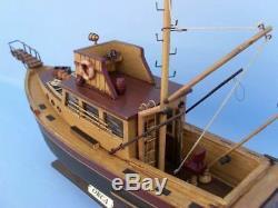 Jaws Movie Orca Model 20 Bateau De Pêche En Bois Bateau De Pêche Assemblé En Bois