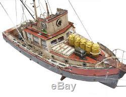 Jaws Orca Modèle Bateau Avec Quint Statue 3 Foot Bois Réplique Musée Des Navires Qlté
