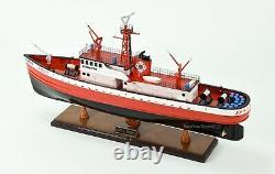 John D. Mckean Fireboat Modèle De Bateau En Bois Fabriqué À La Main 25