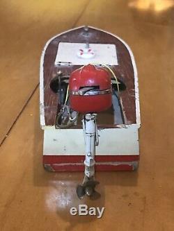 Jouet En Bois Japonais Vintage Modèle Bateau Vintage Jouet Moteur Hors-bord Moteur Sakai