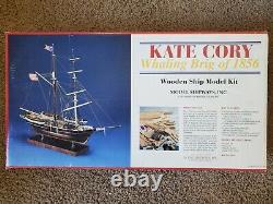 Kate Cory Ship Model Shipways's Solid Hull Kit En Bois Nib #2031