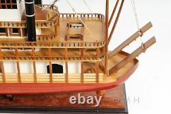 King Of Mississippi Paddle Wheel Steam Riverboat 30 Modèle En Bois Assemblé