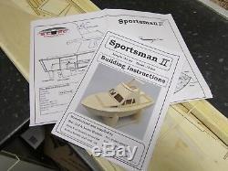 Kit Bateau Modèle Cabine Cruiser / Sport Bateau De Pêche En Bois Avec Moteur Construction Gratuit