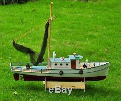 Kit De Modèle De Contrôle À Distance Des Navires De Pêche En Bois Des Bateaux De Pêche En Bois Classiques Rc 1x25
