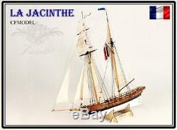 La Jacinthe Échelle 1/65 23.6 Modèle De Navire En Bois Kit En Bois Bateau À Voile