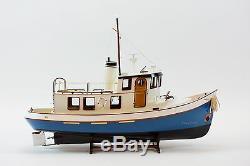 Lord Nelson Victory Tugboat 28 Bateau En Bois Fait Main Modèle Rc Convertible