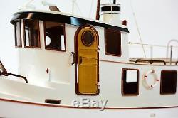 Lord Nelson Victory Tugboat 28 Main Bateau En Bois Modèle Rc Convertible