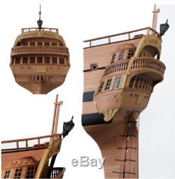 Luxe 1/48 Uss Bonhomme Richard Kit Bois Navires Modèle Navire Bateau En Bois Suspendu