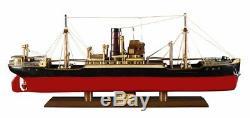 Malacca 1897 Steamship 26.5 Maquette De Bateau En Bois Assemblée