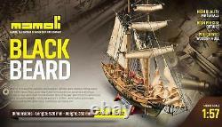 Mamoli Blackbeard 157 Mv82 Planche En Bois Sur Cadre Modèle De Construction Boat Kit