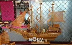 Maquette Chinoise En Bois De Teck Construit En Bateau Modèle 23 Assemblé Artisanat À La Main Thai