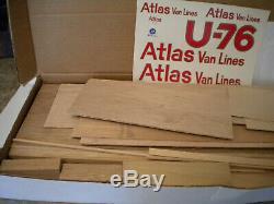 Maquette De Bateau À Moteur En Bois Hydroplane Rc U-76 Dumas Atlas Van Lines, Échelle De 36 Pouces # 1312