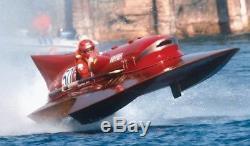 Maquette De Bateau Miniature En Bois Pour Ferrari Hydroplane Scale 1/10 31.4 Ted Équipée D'un Moteur