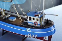 Maquette De Bateau Modèle En Bois 1/48 En Bois Pour Bateaux De Pêche Au Crabe Pellworm