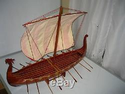 Maquette En Bois Fait Main De Bateau Dragon De Viking 32