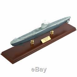 Marine Allemande U-boat Submarine Mbsgut Seconde Guerre Mondiale Bois Modèle Assemblé