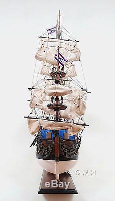 Marine Russe Aller À La Prédestination Tall Ship Grand 37 Bois Modèle Bateau Assemblé