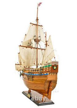 Mayflower 1620 Modèle De Bateau Haut De Gamme En Bois 30 Plymouth Pilgrim's Historic Built Boat