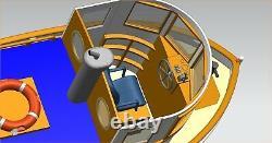 Micro Tug Bateau M3 118 273mm En Bois Modèle Bateau Kit Modèle Rc Bois Modèle Kit