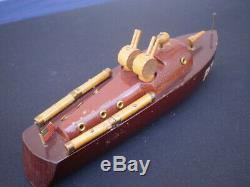 Milton Bradley Origine Wwii Pt-9 Us Navy Torpilleur Bois Modèle Elco Powerboat