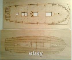 Mk0302p Schooner Polotsk + Lifeboat Kit Navire En Bois 1/72 Modèle, Par Maître Korabel