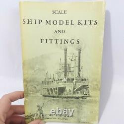 Model Shipways Essex 32 Gun Frigade Wooden Model Ship Scale 5/64 1ft Vintage