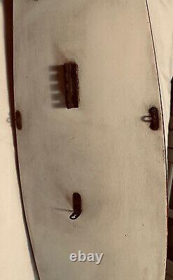 Modèle Antique En Bois 29 1/2 Voilier / Bateau Étang Circa. Années 1920