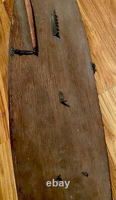 Modèle Antique En Bois 36 Voilier / Bateau Étang Circa. Début Des Années 1900