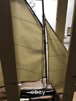 Modèle Bateau En Bois Pond Yacht Schooner Navire Voilier. Nouveau. Dans La Caisse