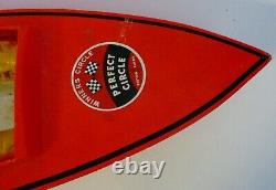 Modèle Collectionnable Antique En Bois Speed Boat Perfect Circle 39 Long Avec Moteur Kb 75