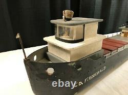 Modèle D'échelle De Bâtiment Primitive Cargo Freighter Ship Boat Edmond Fitzgerald